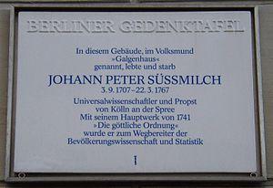 Johann Peter Süssmilch